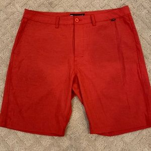 Travis Mathew Red Shorts